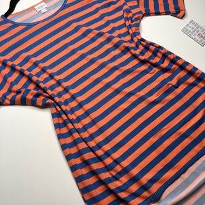 LuLaRoe S Irma tunic blue/orange